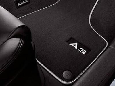 Коврики в салон (VAG) для Audi A3 8P 2003-2013, 4 шт. (текстиль, чёрные)