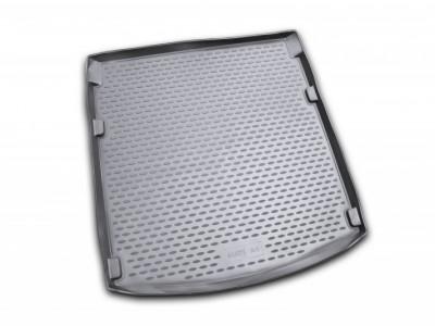 Коврик в багажник Novline для  AUDI A-4 2007-2015, сед. (полиуретан; чёрный; серый)