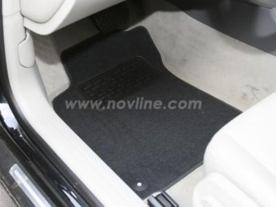 Коврики в салон (Novline) для Audi A6  2004-2008, 4 шт. (текстиль, чёрные, серые, бежевые)