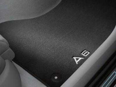 Коврики в салон (VAG) для Audi A6 C7 2011-н.в., 4 шт. (текстиль, чёрные)