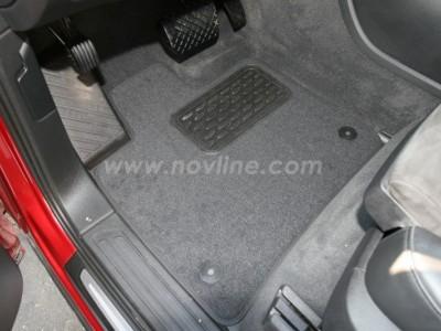 Коврики в салон (Novline) для Audi Q7 2005-2015, 4 шт. (текстиль, чёрные, серые, бежевые)