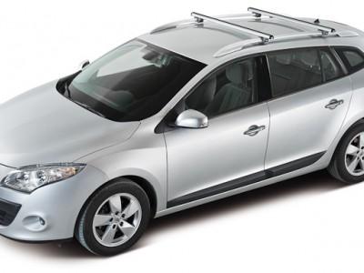 Багажники CRUZ AluR (Испания) (108, 118, 128см) (поперечены 2 шт., алюминий, c креплением за высокие рейлинги)