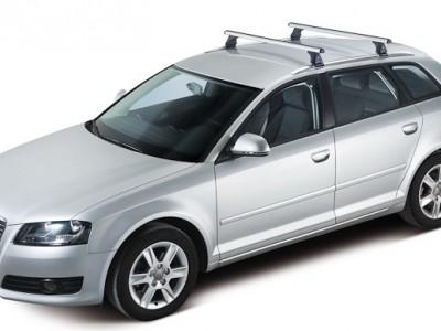 Багажники CRUZ AX (Испания) (108, 118, 128см) (поперечены 2 шт., алюминий, c креплением в штатные места или за интегрированные рейлинги)