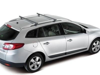 Багажники CRUZ SR (Испания) (108, 118, 128см) (поперечены 2 шт., сталь, c креплением за высокие рейлинги)