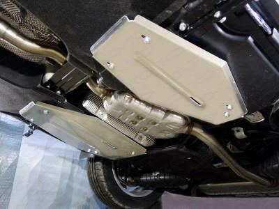 Защита бака (левая и правая) (TCC) для Audi Q5 2016- н.в., (алюминий) 4 мм
