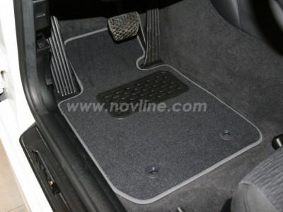 Коврики в салон (Novline) для BMW 1 E81 3d 2007-2012, 4 шт. (текстиль, чёрные, серые, бежевые)