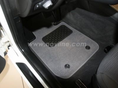 Коврики в салон (Novline) для BMW 1 E87 5d 2007-2011, 4 шт. (текстиль, чёрные, серые, бежевые)