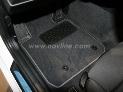 Коврики в салон (Novline) для BMW 1 F20 2011-2015, 4 шт. (текстиль, чёрные, серые, бежевые)