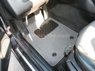 Коврики в салон (Novline) для BMW 3 E46 1997-2006, 4 шт. (текстиль, чёрные, серые, бежевые)