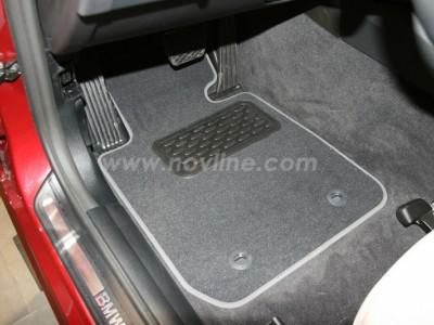 Коврики в салон (Novline) для BMW 3 E90 2004-2011, 4 шт. (текстиль, чёрные, серые, бежевые)