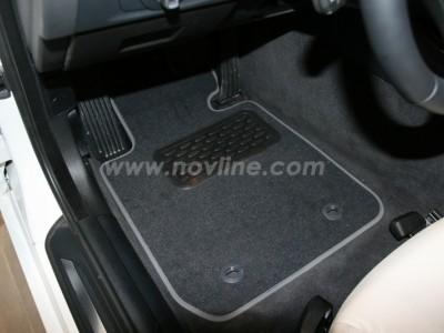 Коврики в салон (Novline) для BMW 3 E92 2006-2013, 4 шт. (текстиль, чёрные, серые, бежевые)