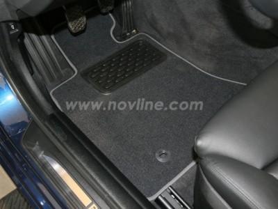 Коврики в салон (Novline) для BMW 5 F10/ F11 2009-2016, 4 шт. (текстиль, чёрные, серые, бежевые)