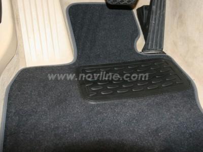 Коврики в салон (Novline) для BMW 5 GT F07 2009-2016, 4 шт. (текстиль, чёрные, серые, бежевые)