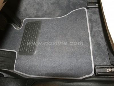 Коврики в салон (Novline) для BMW 7 Long F02 2008-2012, 4 шт. (текстиль, чёрные, серые, бежевые)