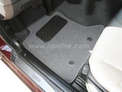 Коврики в салон (Novline) для BMW 5 E60 2003-2009, 4 шт. (текстиль, чёрные, серые, бежевые)