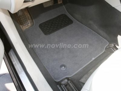 Коврики в салон (Novline) для Cadillac CTS 4WD 2007-н.в., 4 шт. (текстиль, чёрные, серые, бежевые)