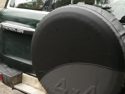 Чехол на запасное колесо джипа 4X4 (кожзам) (R 15-16/ 17)
