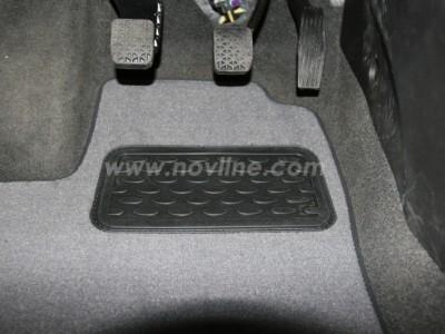 Коврики в салон (Novline) для Chevrolet Aveo sedan, hb 2011-н.в., 5 шт. (текстиль, чёрные, серые, бежевые)