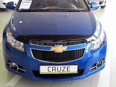 Дефлектор капота темный (Novline) для Chevrolet Cruze 2009-н.в.