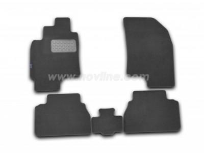 Коврики в салон (Novline) для Chevrolet Epica sedan 2006-2012, 5 шт. (текстиль, чёрные, серые, бежевые)