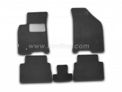 Коврики в салон (Novline) для Chevrolet Lacetti 2003-н.в., 5 шт. (текстиль, чёрные, серые, бежевые)