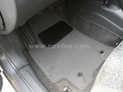 Коврики в салон (Novline) для Chevrolet Lanos sedan 1997-2005, 5 шт. (текстиль, чёрные, серые, бежевые)