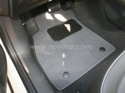 Коврики в салон (Novline) для Chevrolet Malibu sedan 2012-н.в., 5 шт. (текстиль, чёрные, серые, бежевые)