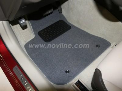 Коврики в салон (Novline) для Chrysler 300C 2011-н.в., 4 шт. (текстиль, чёрные, серые, бежевые)