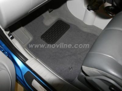 Коврики в салон (Novline) для Chrysler PT Cruiser hb 2000-2010, 4 шт. (текстиль, чёрные, серые, бежевые)