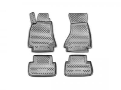 Коврики в салон для Audi A4 B8 2007-2015, 4 шт. (полиуретан) Novline
