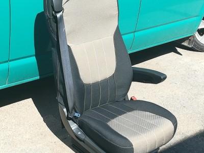 Оригинальные модельные чехлы на сидения для автомобиля DAF (материал: твид, кожзам; любые тона)