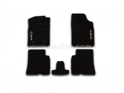 Коврики в салон (Novline) для DongFeng S30 sedan 2009-н.в., 5 шт. (текстиль, чёрные)