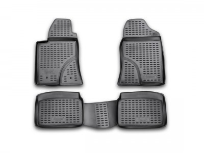Коврики в салон для TOYOTA Avensis 2003-2008, 4 шт. (полиуретан) Novline