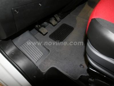 Коврики в салон (Novline) для Fiat Ducato 2007-н.в., 2 шт. (текстиль, чёрные, серые, бежевые)