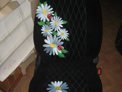 Оригинальные модельные чехлы на сидения для автомобиля Mazda 323 седан/ хэтчбек 1998-2003 (материал: твид, кожзам; любые тона)