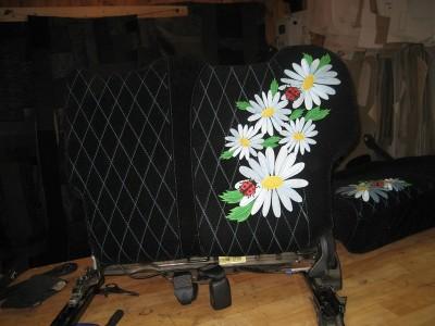 Оригинальные модельные чехлы на сидения для автомобиля Volkswagen Polo 2001-2009 (материал: твид, кожзам; любые тона)