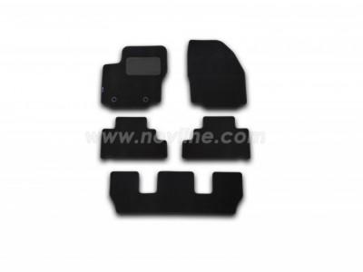 Коврики в салон (Novline) для Ford Galaxy 2006-н.в., 5 шт. (текстиль, чёрные, серые, бежевые)
