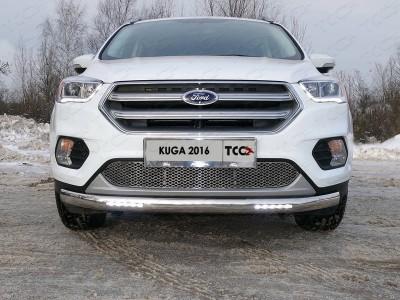 Рамка номера из нержавеющей стали (TCC) для Ford Kuga 2008-н.в., к-т 2 шт.