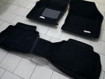 Коврики салона 3D LUX Sotra для Ford Mondeo 2015-н.в., 2 ряда 3 части, чёрный цвет