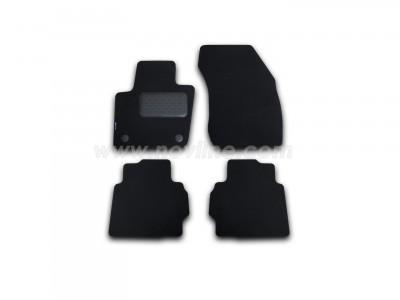 Коврики в салон (Novline) для Ford Mondeo sedan 2015-н.в., 4 шт. (текстиль, чёрные, серые, бежевые)