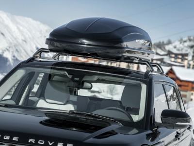 Бокс автомобильный Hapro Carver 6.2 (193х65х42 см.) (Нидерланды) цвет: чёрный матовый, серебристый матовый