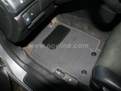 Коврики в салон (Novline) для Honda Accord sedan 2003-2007, 4 шт. (текстиль, чёрные, серые, бежевые)