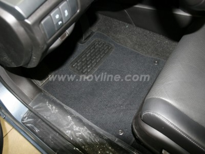 Коврики в салон (Novline) для Honda Accord sedan 2007-н.в., 4 шт. (текстиль, чёрные, серые, бежевые)