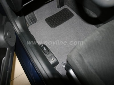 Коврики в салон (Novline) для Honda Civic sedan 2005-2012, 4 шт. (текстиль, чёрные, серые, бежевые)