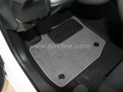 Коврики в салон (Novline) для Honda Civic hb 2012-н.в., 5 шт. (текстиль, чёрные, серые, бежевые)