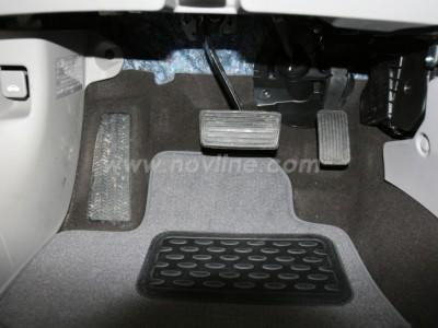 Коврики в салон (Novline) для Honda Civic sedan 2011-н.в., 5 шт. (текстиль, чёрные, серые, бежевые)