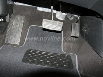 Коврики в салон (Novline) для Honda Crosstour sedan 2008-н.в., 5 шт. (текстиль, чёрные, серые, бежевые)