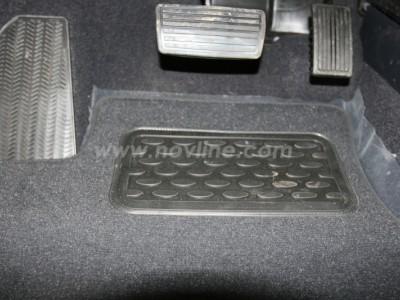 Коврики в салон (Novline) для Honda CRV III 2006-2011, 4 шт. (текстиль, чёрные, серые, бежевые)