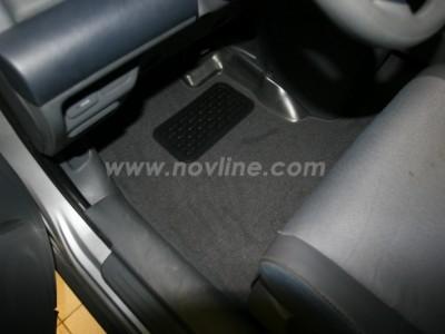 Коврики в салон (Novline) для Honda Element 2002-н.в., 4 шт. (текстиль, чёрные, серые, бежевые)