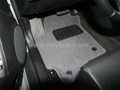 Коврики в салон (Novline) для Hyundai Coupe 2002-2011, 4 шт. (текстиль, чёрные, серые, бежевые)